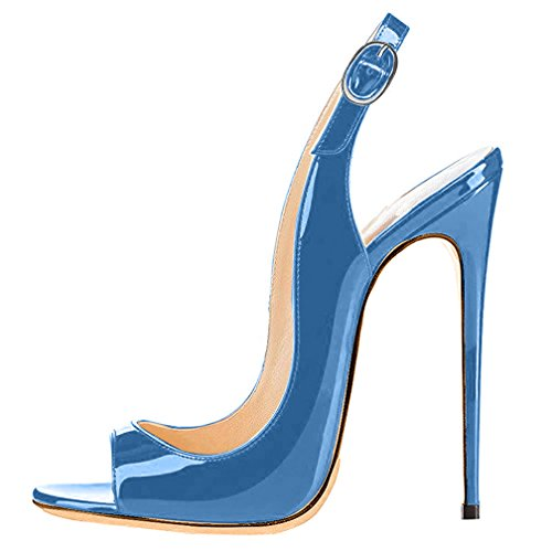 Trusify Donna 12cm EU 34-46 Trucost tacco a spillo 12CM Synthetic Sandali blu Royal