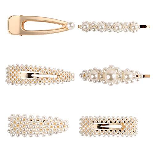 Clip di Perle Perla Clip di Capelli Spille per Capelli con Perle Finte Per Regali Forcine Copricapi Accessori per Capelli da Sposa