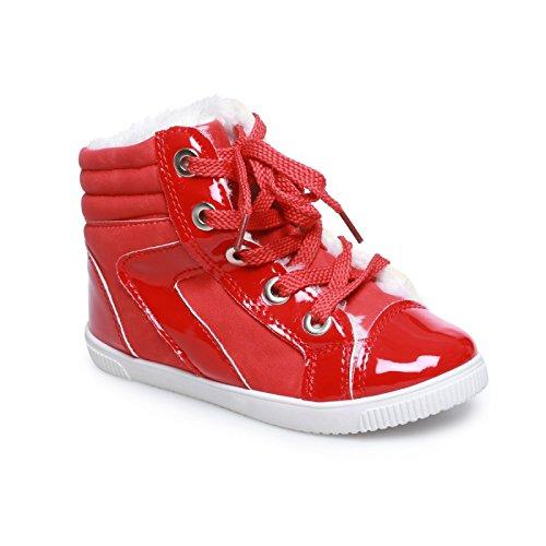 Rosso La Bi materiale Bambino Fashionista Rosso Sneaker Aumento xq06nwvg
