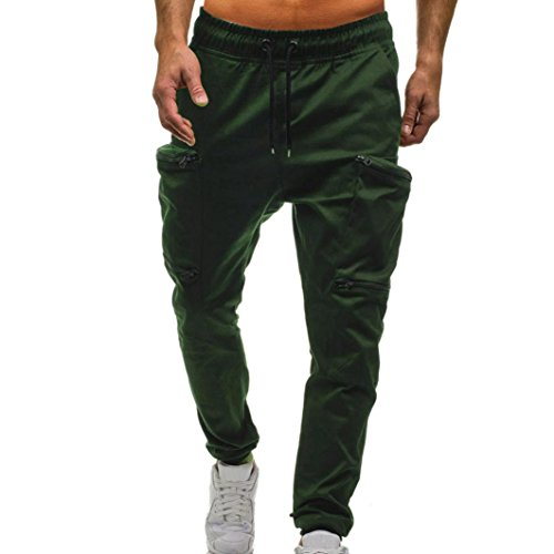 Mounter Men's Drawstring Classic Joggers Pants Zipper Pockets Sport Sweat Pants
