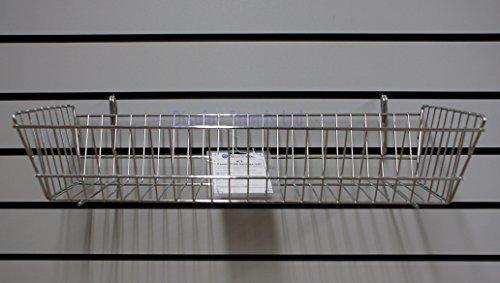 Resistente stretto cromato cestello per Pannelli dogati & Gridwall NUOVO (OX3)