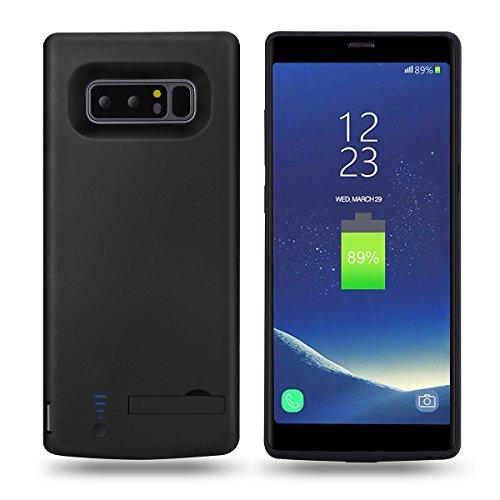Mondpalast@ Nero Custodia con Batteria integrata da 6500 mAh per Samsung Galaxy Note 8 NOTE 8 note 8 N9500 N950F
