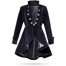Devil Fashion Akacia Damenjacke Frack Schwarz samt Gothic Steampunk Vtg