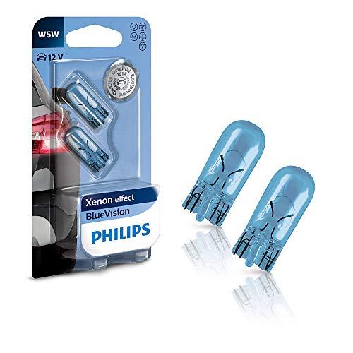 Philips BlueVision ultra Xenon-Effekt W5W Scheinwerferlampe 12961BVB2, Doppelblister