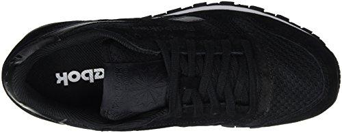 Schwarz Branco Clipe De Couro Clássico Reebok Sneaker Tecnologia Herren preto AqZ6T