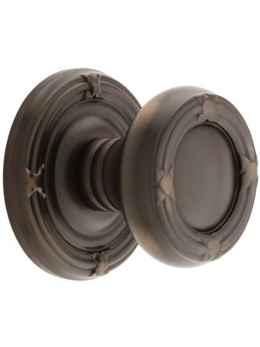 Reed Door Knob (Ribbon And Reed Door Set With Round Brass Knobs Privacy In Oil Rubbed Bronze. Doorsets. by Emtek)