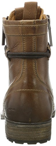 Pepe Jeans London Herren Melting Zipper New Klassische Stiefel Braun (Tan)
