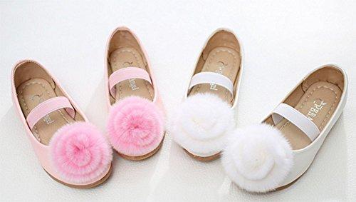 Ohmais Enfants Filles Chaussure cérémonie Ballerines à bride Fête Demoiselle d'honneur Mariage Escarpin plat Babies Beige