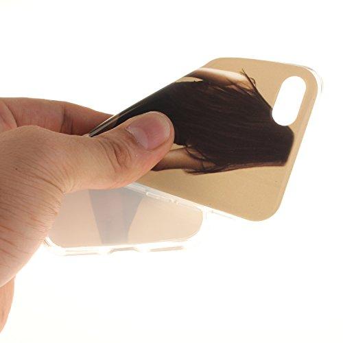 iPhone 7 Plus Hülle,iPhone 7 Plus Case,iPhone 7 Plus Cover,ikasus® TPU Silikon Schutzhülle Case Hülle für iPhone 7 Plus,Durchsichtig mit Gemalte Muster Handyhülle iPhone 7 Plus Silikon Hülle [Kristall Sexy Mädchen