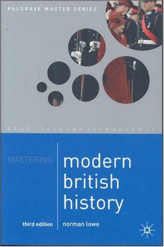 Mastering Modern British History (Palgrave Master Series)