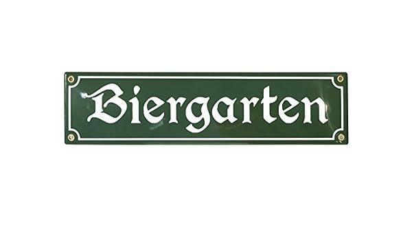 T/ürschild BIERGARTEN 8x30 cm Emailschild Hinweis Schild Deko Banner Reklamebanner Oktoberfest