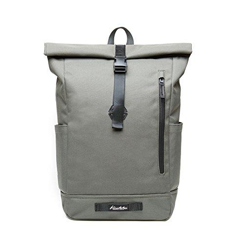 """KAUKKO Rucksack Roll Top Backpack Lässiger Vintage Tagesrucksack Herren Laptop Schulrucksack fit 15"""" Notebook Bag für Wandern..."""