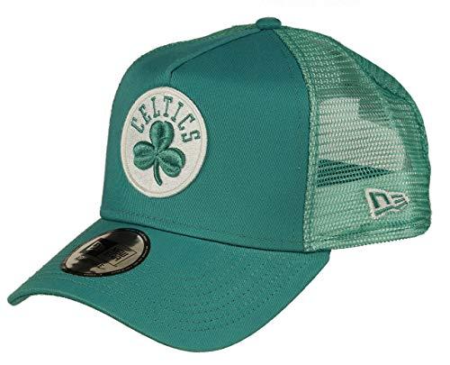 New Era Boston Celtics A Frame Adjustable Trucker Cap NBA Essential Turquoise - One-Size Boston Trucker Hut