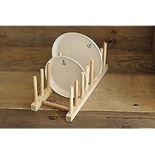 SSBY Legno massello cucina piastra piatto rack rack di scarico tabella rack display