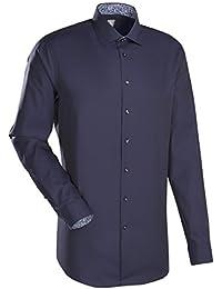 JACQUES BRITT Business Hemd Slim Fit Langarm Bügelleicht Uni / Uniähnlich Businesshemd Kent-Kragen Manschette weitenverstellbar