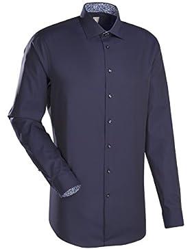 JACQUES BRITT Business Hemd Slim Fit Langarm Bügelleicht Uni / Uniähnlich Businesshemd Kent-Kragen Manschette...