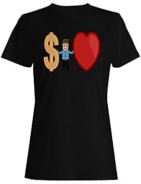 Te quiero dólares novedad divertida vintage arte camiseta de las mujeres zz71f