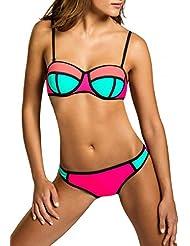 CASPAR BIK005 Damen Bandage Bikini Set