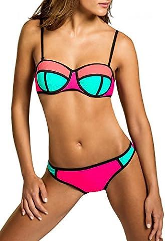 CASPAR - BIK005 - Maillot de bain bikini bandeau en