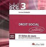 Droit social DCG 3 : 41 fiches de cours pour acquérir les connaissances nécessaires