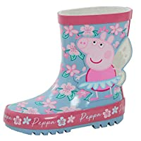 Peppa Pig Girls 3D Wellington Boots Glitter Fairy