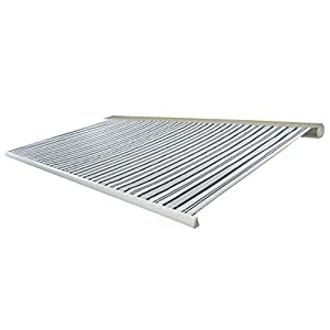 Elektrische Kassettenmarkise T124, Markise Vollkassette 5x3m ~ Polyester Grau/Weiß