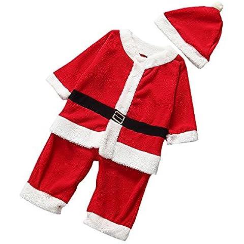 lescorecor (TM) Natale Koala bambini Infant Babbo Natale Tuta Bambini tute + cappello + Offerta Babbo Natale vestiti Suit, Multicolor, XS