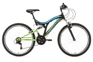 VTT tout suspendu 26'' Castello HLX noir vert bleu TC 48 cm KS Cycling