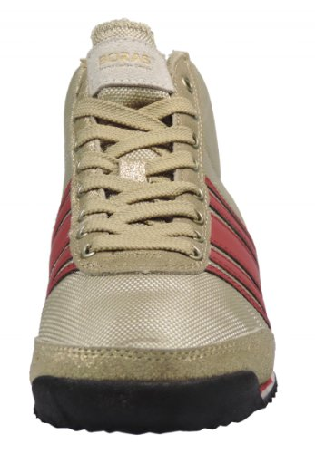 Boras 3043 Sneaker synthétique cuir Or/rouge