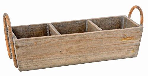 VBS Pflanzkorb Vintage, aus Holz, Breite ca. 43 cm
