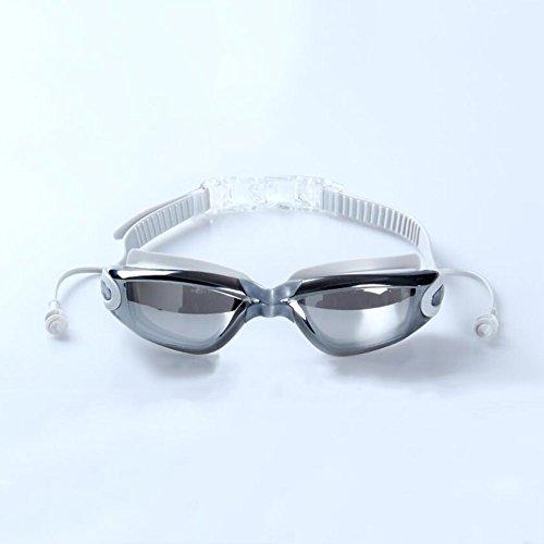 Sunny Honey HD-Überzug-Schwimmen-Schutzbrillen Imprägniern Und Anti-Fog Freie Sicht-Männer Und Frauen-Erwachsene Schwimmen-Ausrüstung (Farbe : Hellgrau)