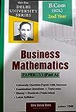 Business Mathematics + Business Statistics Pack of 2 Books B.Com SOL 2nd Year Delhi University For 2020 Exam
