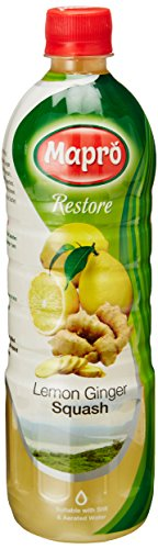 Mapro Lemon Ginger squash, 750ml  available at amazon for Rs.105