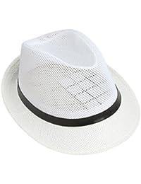 ACVIP Adulte Unisexe Chapeau Panama Fedora en Paille- Soleil/Voyage/Plage Eté