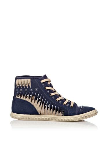 Fornarina 8342, Baskets mode femme Bleu