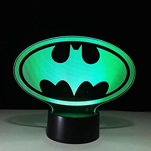 ZNNYE 3D Led Symbol Licht Usb Kreative Baby Schlafen Beleuchtung Vision Nachtlicht Super Hero Chart Licht Spielzeug Geschenk -
