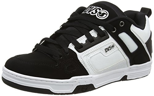 DVS Comanche - Scarpe da Skateboard Uomo, Nero (Blk/Wht/Blk Nubuck), 42.5 EU (8 UK)