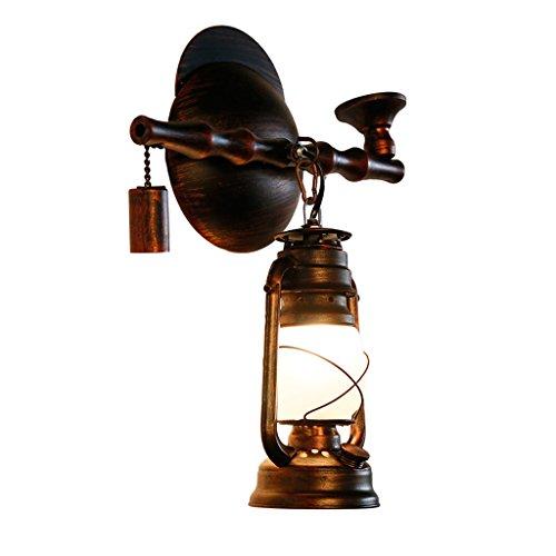 Archaize Nostalgische Rohr Wandleuchte Esszimmer Schlafzimmer Hall Horse Light Petroleumlampe Creative Iron Art Vintage Wandleuchte (Art Glass Vintage Tisch Lampe)