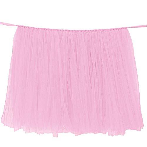 (GRASSAIR Hochzeitsfeier Tulle Tutu Table Rock Birthday Baby-Dusche Hochzeits-Tischdekorationen DIY Craft Supplies,Pink)
