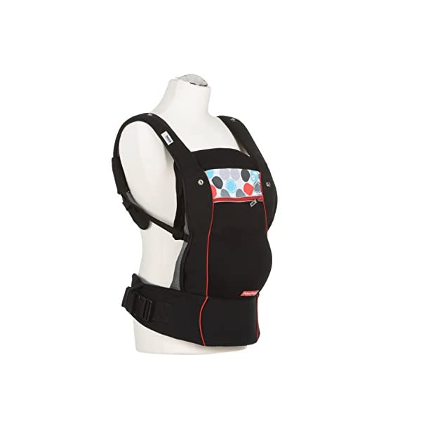 Fisher Price Hauck Close to me Ergonomic Baby Carrier New-born, Front, Breathable, Adjustable, for Infants from Birth up to 12 kg, Lumbar Support Belt, Black Fisher-Price  1