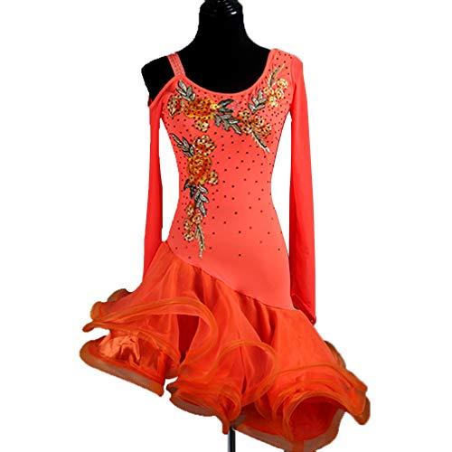 Professionelle Latin Dance Kleider Für Frauen Lange Ärmel Mode-Stickerei Lateinischer Tanzrock Bühnenkostüm Performance Kostüm, - Professionelle Jazz Dance Kostüm