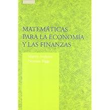 Matemática para la economía y las finanzas