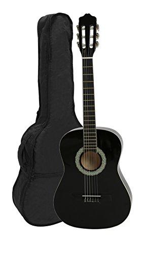 Navarra nv14 3/4 chitarra classica con borsa, nero