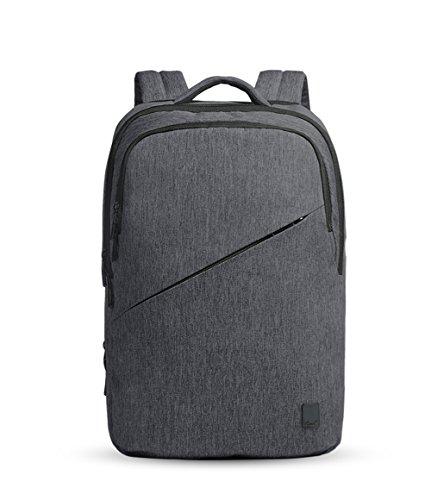 """Cai 15.6 """" Business Laptop Tasche Wasserdicht Rucksack Multifunktionale Satchel Bag Dual Fan Rucksack Schulwanderung Reisetasche Commuting Tasche mit USB Ladeloch für Männer Frauen 7217 Blue Grey"""