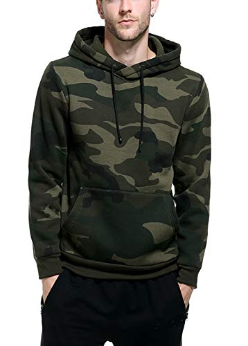 Herren Sweatshirts Kapuzenpullover Camo Fashion Jungen Outwear Shirts Tops - Grün - Klein -