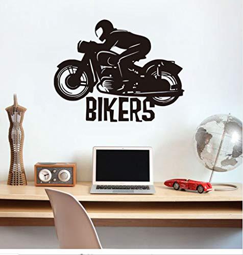Ljtao Neues Design Biker Vinyl Wandtattoos Wohnkultur Für Wohnzimmer Motorrad Kunst Wandaufkleber Selbstklebende Diy D