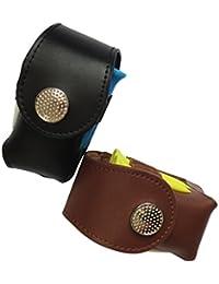Tradico® Fashion Mini Leather Clip On Golf Ball Pouch Tees Divot Tool Holder Storage Bag