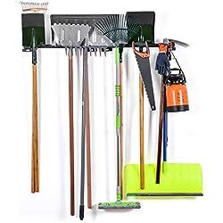 Sunix Support de Rangement d'Outils, Racks Organisateur d'outil Organisateur d'Outil Supports de Stockage pour la Maison et Support Mural de Garage avec 6 Crochets Amovibles, Lot de 2