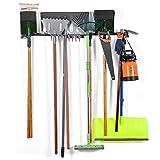 Rack portautensili - Supporti a Muro per Utensili - Utensile per Montaggio a Parete - Utensili a Parete - Sistema di stoccaggio per casa e Garage - Gancio per Attrezzi in Acciaio