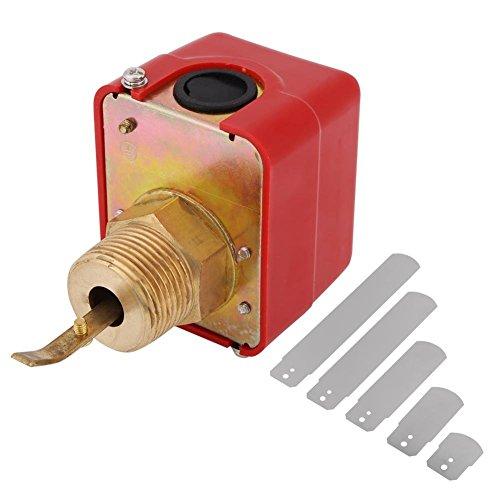Messing-Wasserströmung Schalter 15bar Durchflusssensor Schalter Paddel-Steuerung NPT Gewinde mit 5 Paddeln Absperrventil Polierchrom-Duschkopf -